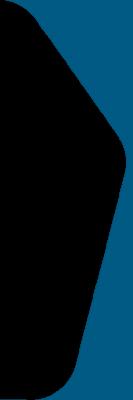borda azul em formato de seta arredonda